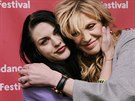 Frances Bean Cobainová a Courtney Love (Park City, 24. ledna 2015)