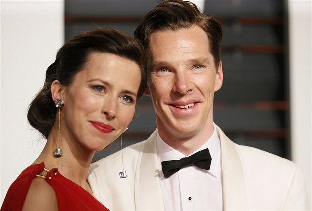 Sophie Hunterová a Benedict Cumberbatch (Los Angeles, 23. února 2015)