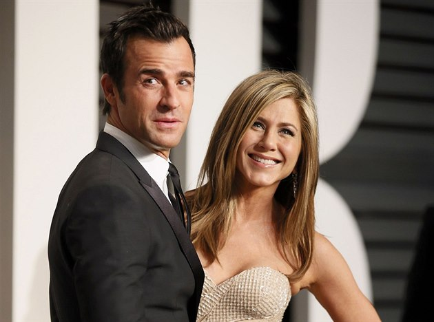 Jennifer Anistonová a Justin Theroux (Los Angeles, 23. února 2015)