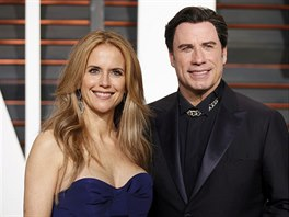Kelly Prestonová a John Travolta (Los Angeles, 22. února 2015)