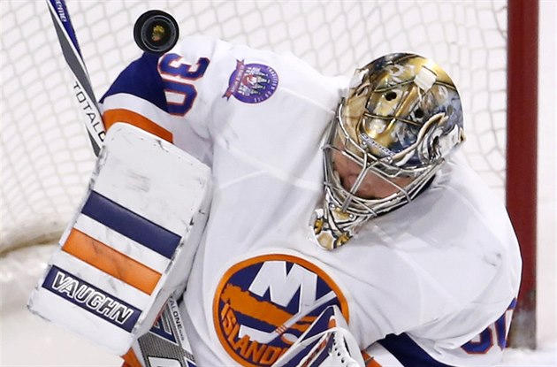 Michal Neuvirth v dresu New York Islanders