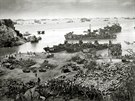Okinawa Landing craft of supply U.S. forces on Okinawa, 13 days after the...