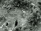 Okinawa Two U.S. soldiers to throw grenades into Japanese held caves on Okinawa...