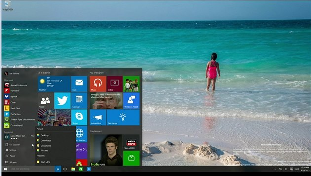 Windows  10 p�ijdou 29. �ervence 2015