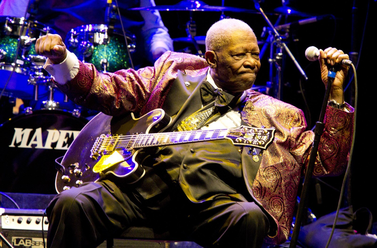 Zpěvák B.B. King (Los Angeles, 11. listopadu 2011)