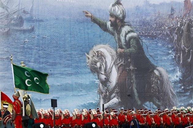 Turecké oslavy 562. výročí dobytí Istanbulu Osmany (30. května 2015)