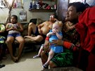 "Eight-month-old Aisha Guerrero, who is part of the albino or ""Children of the..."