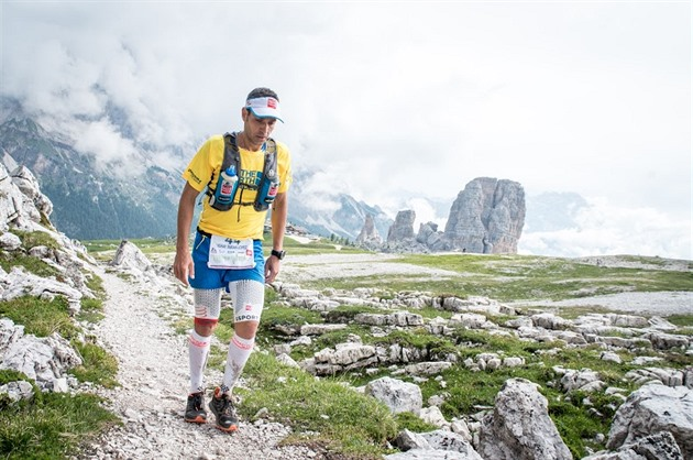 Yeray Duran Lopez na trati závodu The North Face Lavaredo Ultratrail