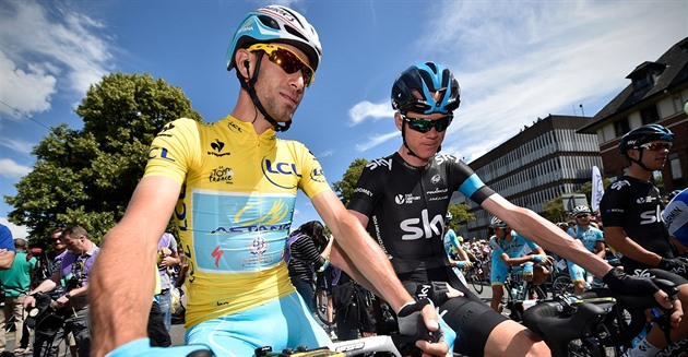 Vincenzo Nibali a Chris Froome při Tour de France 2014.