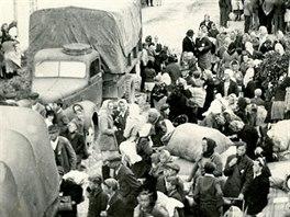 Odsun Němců v roce 1946 z obce Paseka na Olomoucku.