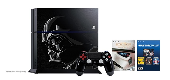 PlayStation 4 se stylizací Darth Vader