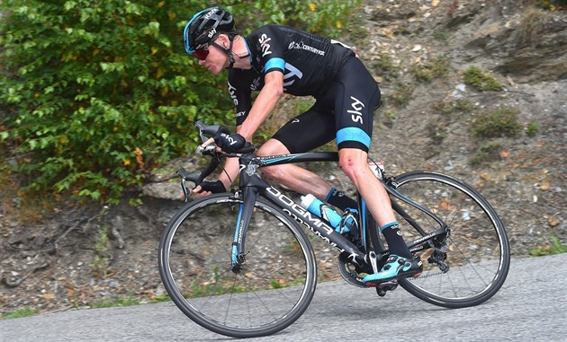 Chris Froome na trati Vuelty
