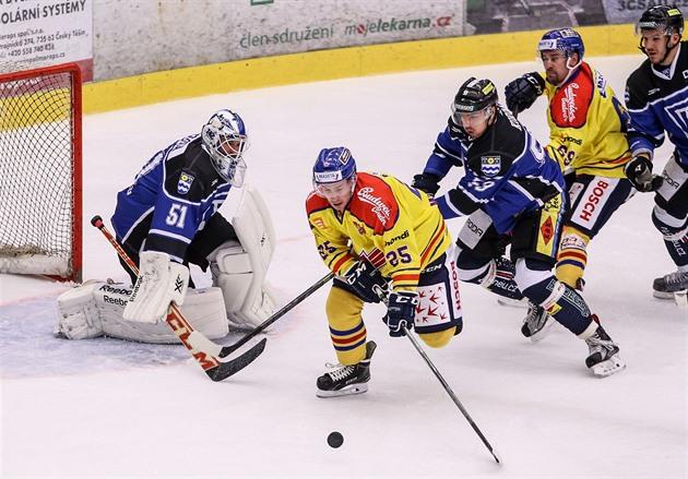 Hockey entusiasm dominerar i Budějovice. Fläktar körde motorn för att vinna