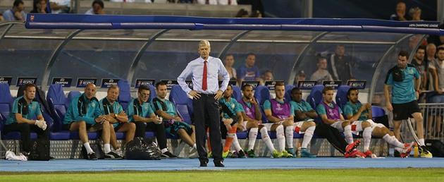 Coach Wenger: Vi representerade inte början på Champions League