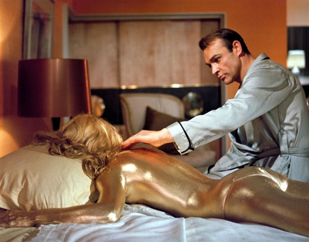 Sean Connery ve filmu Goldfinger