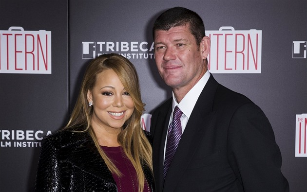 Mariah Carey a její snoubenec James Packer (New York, 21. zá�í 2015)