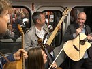 Jan Budař s kapelou v metru