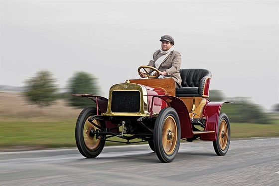 Voiturette A byl vůbec prvním automobilem značky Laurin & Klement.