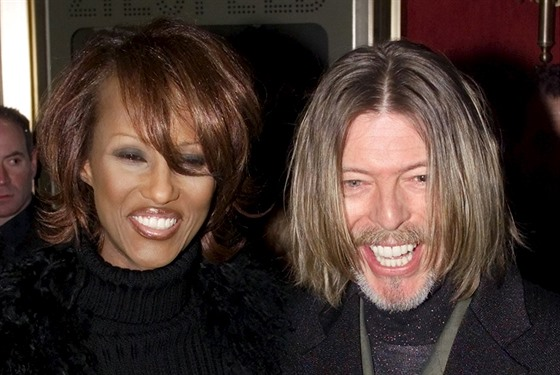 Iman a David Bowie (New York, 5. února 2001)