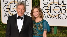Harrison Ford a Calista Flockhartová (Los Angeles, 10. ledna 2016)
