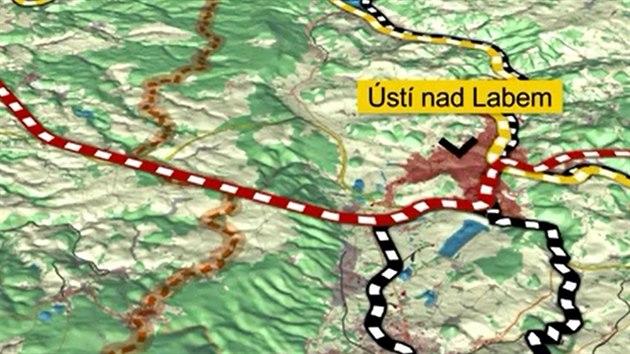 Zvažovaná stavba vysokorychlostní tratě z Prahy do německıch Drážďan dostala novou podobu. Německá studie navrhuje postavit na trase jeden z nejdelších železničních tunelů v Evropě.