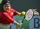 Milos Raonic na turnaji v Indian Wells