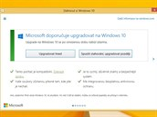 Nabídka upgradu na Windows 10