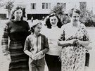 An undated family photograph shows Elena Kupriyanova (2nd L) and Valentina...
