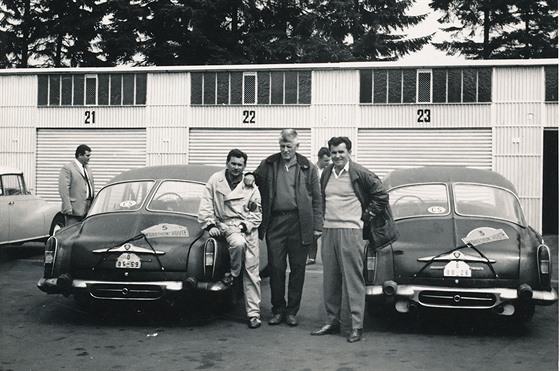 Posádku dnešní tatry tvořili v roce 1967 (zleva) Alois Mark, Adolf Veřmiřovský a Stanislav Hajdušek senior.