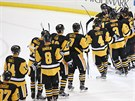 Hokejist� Pittsburghu po prvn�m fin�le Stanley Cupu.