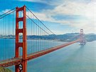 Po most� Golden Gate v San Franciscu pr�v� proj�d� nov� model Mulsanne od Bentley. Najdete ho?