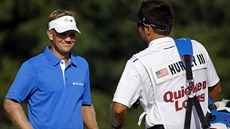 Billy Hurley III. a jeho caddie na turnaji Quicken Loans National