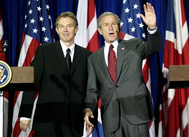 Tony Blair a George W. Bush