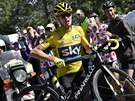 Chris Froome b�� se sv�m nefunk�n�m kolem do stoup�n� na Mont Ventoux.