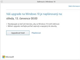 Do 29.7. m�ete vyu��t bezplatn�ho in-place upgradu p��mo z pop-up okna ve Windows.