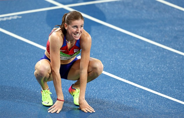 Překážkářka Zuzana Hejnová v olympijském finále skončila čtvrtá. (19. srpna...