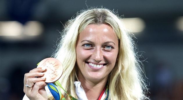 Bronzová medailistka Petra Kvitová