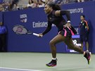 Serena Williamsov� v b�hu p�i semifin�le US Open.