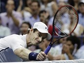 Na�tvan� Andy Murray ve �tvrtfin�le US Open.
