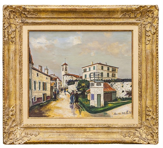 Maurice Utrillo / Paysage a Lucenay