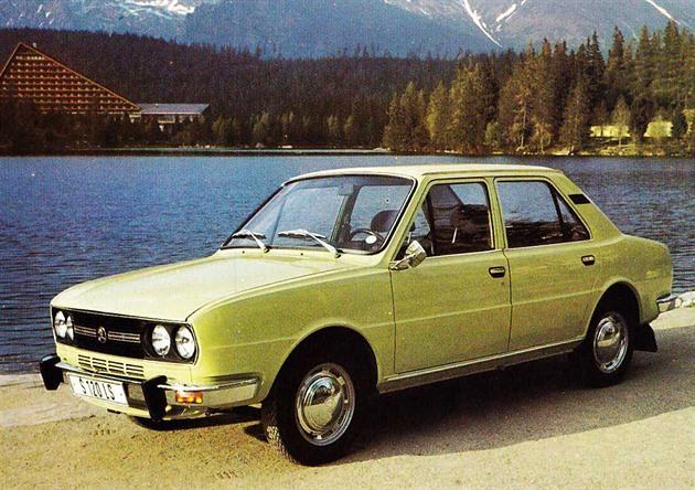 Škoda 120 LS u Štrbského plesa ve Vysokých Tatrách