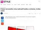 """""""Pohár červeného vína nahradí hodinu cvičenia, tvrdia vedci!"""" (28. 7. 2015, HNonline.sk)"""