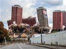 Lesley Smith - Demolition, Red Road Flats, Glasgow, Scotland