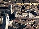 Oblast střední Itálie nedaleko města Norcia zasáhlo v neděli silné zemětřesení (31. října 2016).