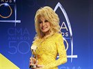 Dolly Partonová na CMA Awards (Nashville, 2. listopadu 2016)