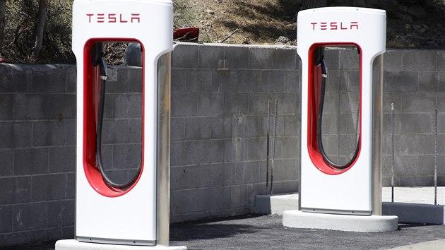 Superchargery - nabíječky pro rychlé dobíjení automobilky Tesla