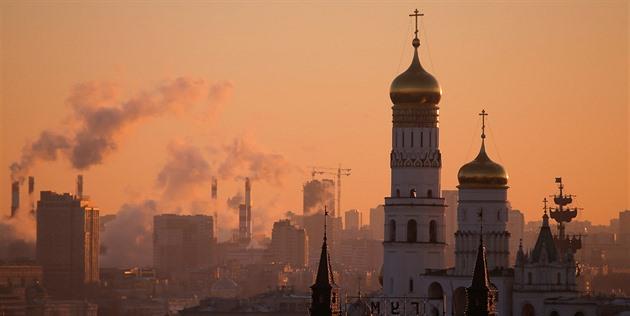 Zvonice Ivana Velikého v Moskvě (21. listopadu 2016)