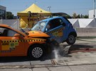 Crashtest Volkswagen Golf vs. Smart