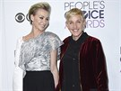 Portia de Rossi a Ellen DeGeneresová na People's Choice Awards (Los Angeles,...