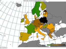 Emisi oxidu uhličitého lze průběžně sledovat na stránkách na stránkách https://electricitymap.tmrow.co/ . Takto vypadá situace v době, kdy není situace pro Německo úplně ideální, současný všední den s vyšší spotřebou a sice fouká, ale ne tak moc.